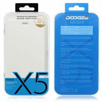 DOOGEE X5 pro Flip Cover & glass (4)