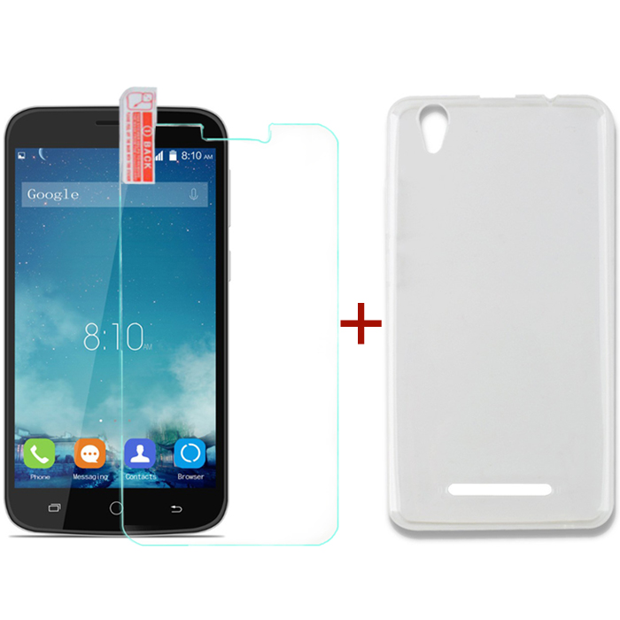 Blackview A8 Tempered Glass Screen Protector & Silicone Case