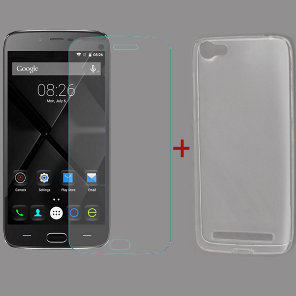 DOOGEE Y200 Tempered Glass Screen Protector & Silicone Case