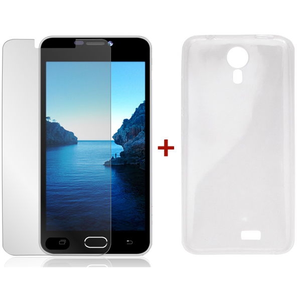 Blackview BV2000 Tempered Glass Screen Protector & Silicone Case