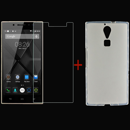 DOOGEE F5 Tempered Glass Screen Protector & Silicone Case