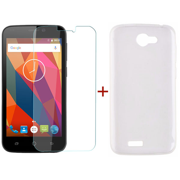 Blackview A5 Tempered Glass Screen Protector & Silicone Case