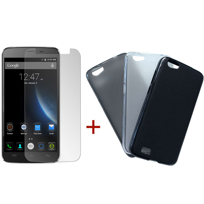 DOOGEE T6 Tempered Glass Screen Protector & Silicone Case