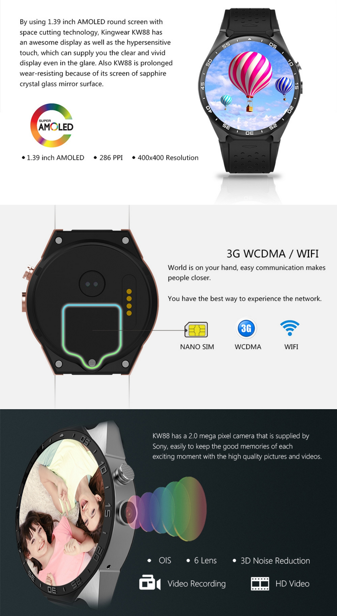 KingWear KW88 Smartwatch (2)