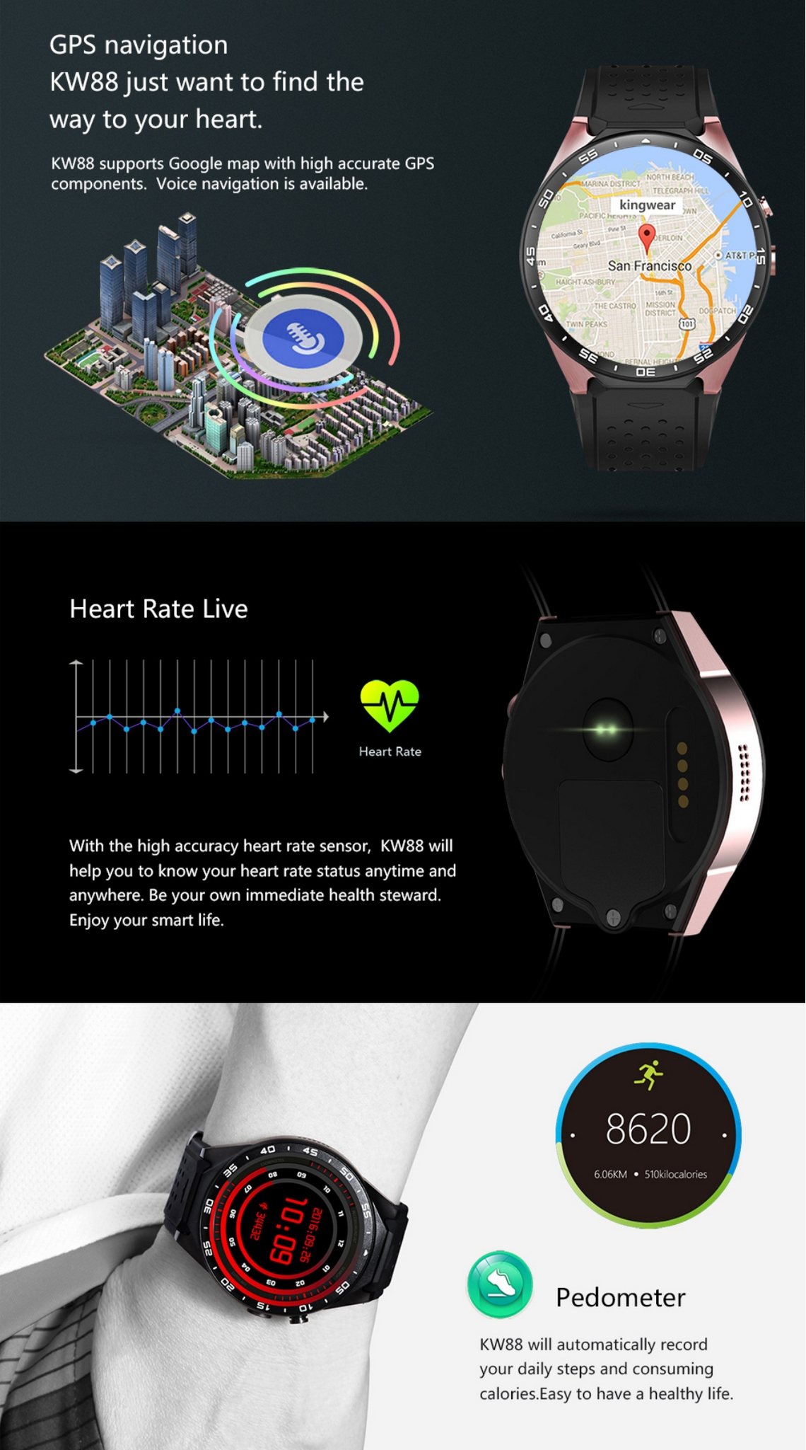 KingWear KW88 Smartwatch (5)