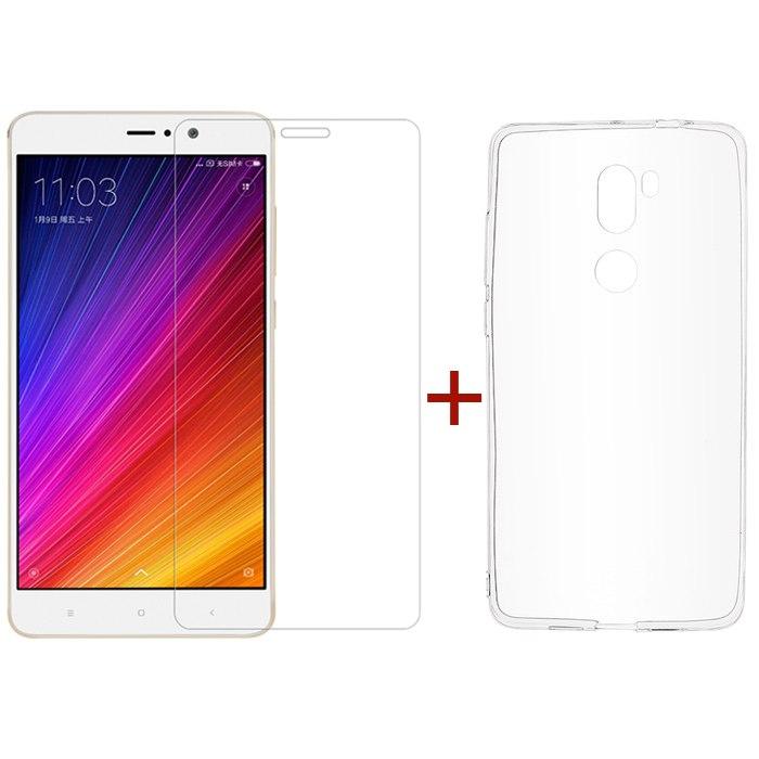 Xiaomi Mi5s Plus Tempered Glass Screen Protector & Silicone Case