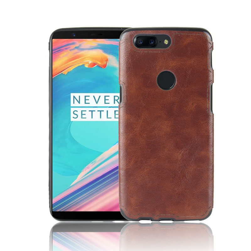 OnePlus 5T Leather Back Cover