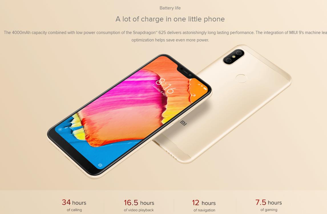 گوشی Xiaomi Redmi 6 Pro